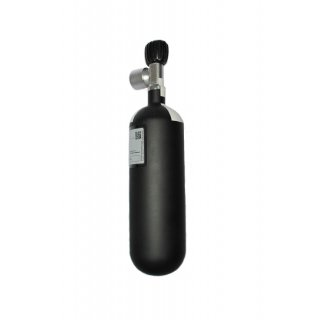 Compressed air cylinder 300bar 1 liter with velve